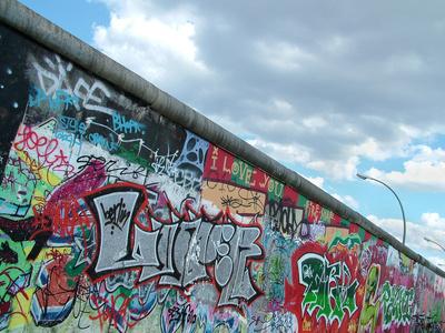 Colourful Berlin Wall