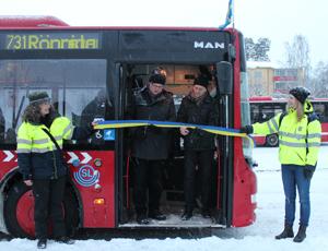 Invigning av buss 731.