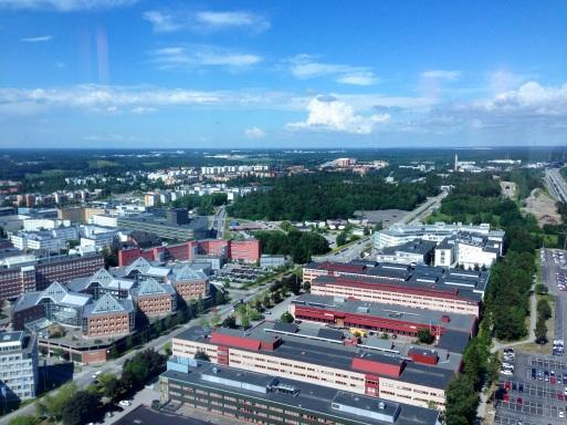 Utsikt från Victoria Tower i Kista.