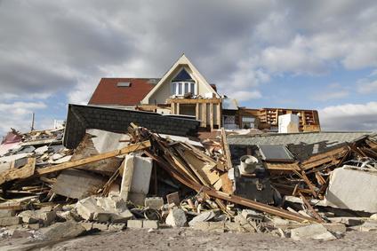 (Bild från orkanen Sandy i USA, www.fotolia.com)