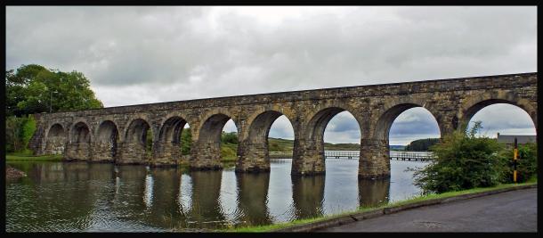 Gammal järnvägsbro, väster om Cork.