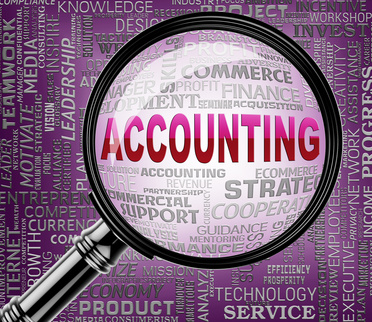 Accounting Magnifier Indicating Accounts Balance 3d Rendering