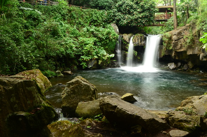Falling Water in National Park in Uruapan Michoacan